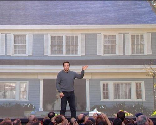 Elon Musk unveiled the solar roofs on the set of Desperate Housewives, with houses from he hit TV show modelling the technology / Tesla