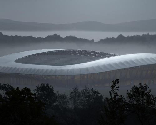 Jim Heverin, director at ZHA, said the stadium will prove that 'sustainable architecture can be dynamic and beautiful' / ZHA/VA