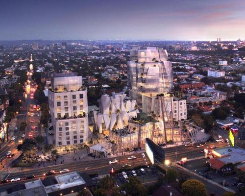 Gehry's inter-linked complex looks set to be built on Sunset Boulevard / Visualhouse