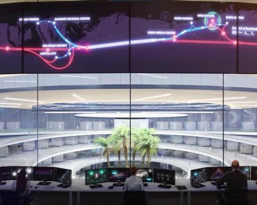 BIG's design for the Hyperloop One control centre / Hyperloop One