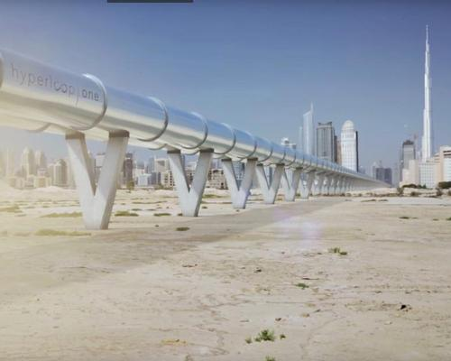 A teaser video released by the company shows one man's 124km journey from Abu Dhabi to Dubai, which Hyperloop One claims will be completed in just 12 minutes / Hyperloop One