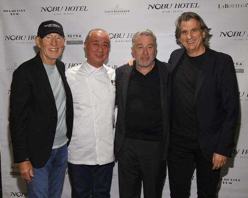 Meier Teper, Nobu Matsuhisa, Robert De Niro and interior designer David Rockwell have collaborated once more to open a Nobu Hotel in Miami Beach / Joe Schildhorn, Ben Gabbe
