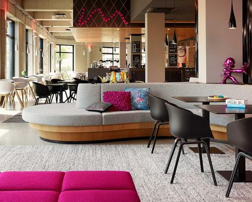 Colourful spaces are designed to host 'spontaneous and organic' experiences / Moxy Berlin