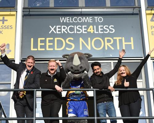 Bob Bowman, Matthew Williamson, Ronnie The Rhino, Qais Ashfaq and Nadia Harding support Movember
