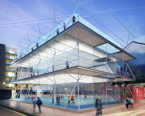 The temporary, stackable pitches can be erected quickly / AL_A
