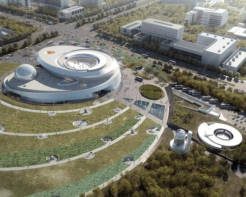 The facility is being built for the Shanghai Science and Technology Museum / Ennead Architects