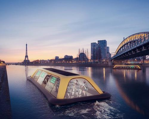 The boat – designed in response to a public call for fitness and wellness projects in Paris – is 20-metres long and can host up to 45 people / CRA