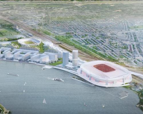 The Feyenoord City Masterplan, developed by architects OMA, will be implemented at a site on the Maas river in the south of Rotterdam / OMA