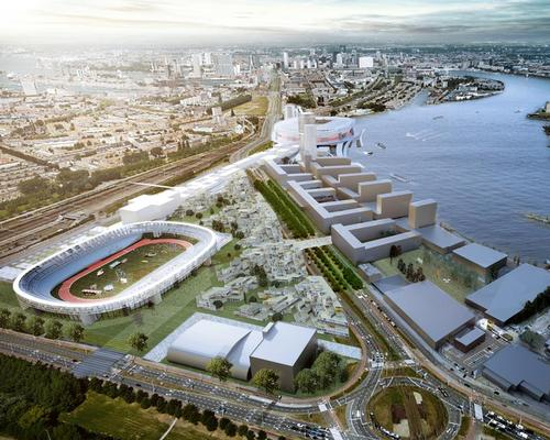 Feyenoord's existing stadium will be transformed into a public park and sports centre / OMA