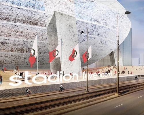 Feyenoord hops its new ground will establish it at the top of the Dutch football pyramid / OMA