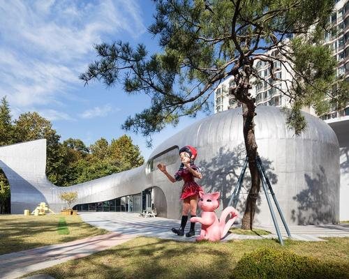 The museum's auditorium is housed in a building shaped like the whale from the Pinocchio legend / Namgoong Sun