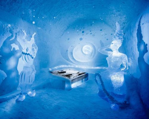 Sculptures in the permanent Icehotel will be changed throughout the year / Icehotel