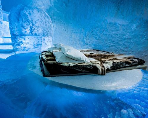 All materials used to build the hotel have been harvested from the Torne River / Icehotel