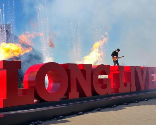 "A recently unveiled set of 78-foot-long and 6-foot-tall letters spelling the words ""Long Live Rock"" is a prime example of a 'netmark', designed to encourage photos for social media"