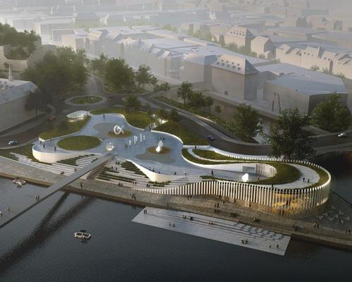 3XN's design concept, described as a 'beautiful game of terraces', will flow across the site in one continuous gesture / 3XN