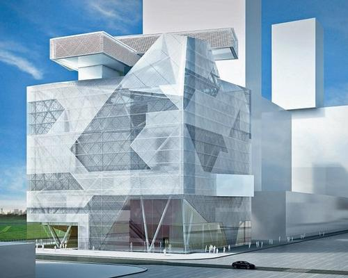 The building, set to open in 2020, will be a luminous, semi-transparent, abstractly formed structure / Asymptote Architecture
