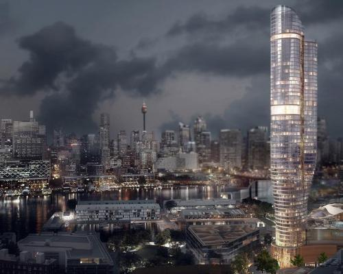 The design proposes a slender 60-storey tower that gradually twists as it rises / FJMT