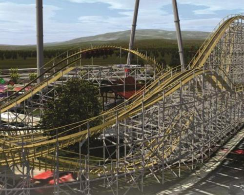 Barrel roll wooden coaster coming to Fun Spot America
