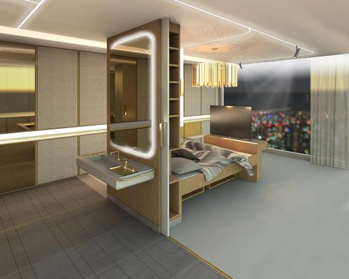 The winning concept, called AllGo, is a universal approach to hotel room design that ensures all rooms are functional, flexible, accessible and beautiful in their design