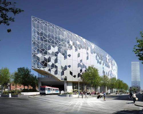 Calgary's New Central Library is being built above the city's LRT rail line / Snøhetta, Dialog and MIR
