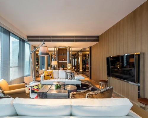 Starck has contributed the elegant interiors that have become his trademark