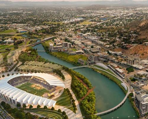 The stadium has been inspired by the Pandanus, a tree native to Norther Australia