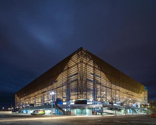 The Rio Handball Arena by Oficina de Arquitetos and Lopes, Santos & Ferreira Gomes and AndArchitects
