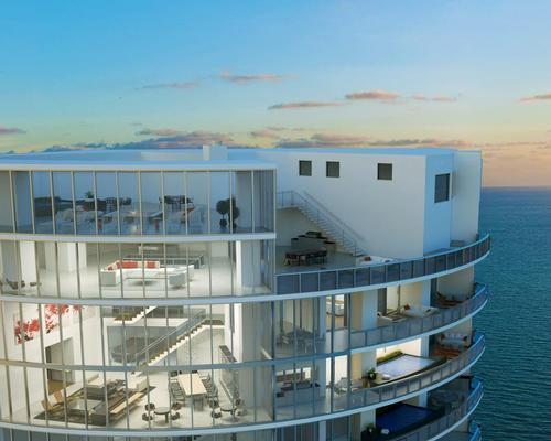 The 57-storey, US$560m (€535m, £456m) Porsche Design Tower in Sunny Isles Beach, Florida is Porsche Design Team's first foray into residential real estate,