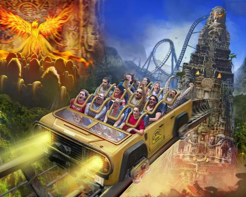 The ride experience combines a dark ride, elevator and rollercoaster in one / Holovis