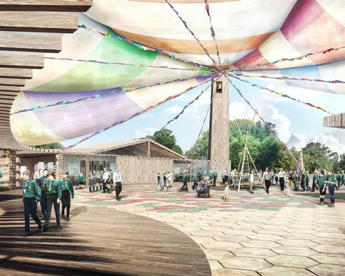 The Scouting Museum's colourful design is intended to create a celebratory feel for visitors to the attraction, including international Scouting visitors / Tate Harmer