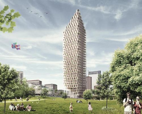 Architecture firms such as CF Møller, who are planning a timber tower in Stockholm, are looking towards wood as a viable skyscraper material / CF Møller