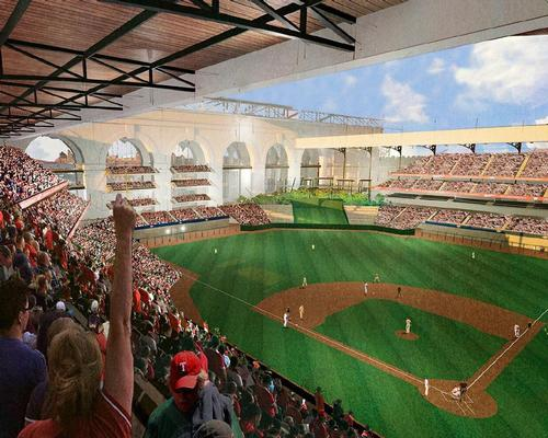 The capacity of the ballpark will stand at 42,000, less than the 50,000-seat Globe Life / HKS