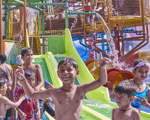 Polin Waterparks debuted a dozen waterslides at the new Amaazia waterpark in Surat, India