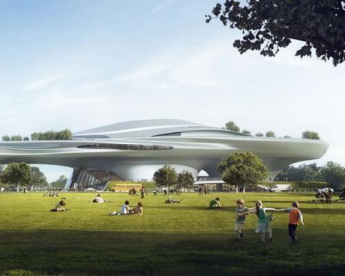 The museum will be located in the city's Exposition Park / Lucas Museum of Narrative Art/MAD Architects