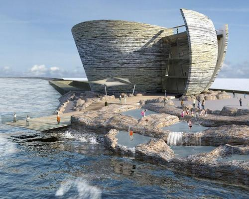 A shell-inspired visitor centre would be part of the giant development