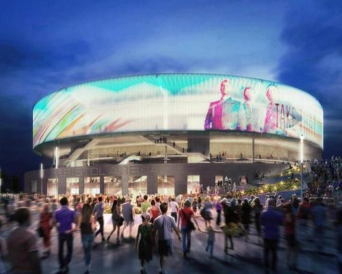 An alternative contractor is now being sought to complete the arena / Populous