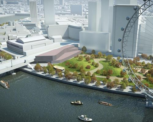 The BFI wants to build its new home on London's South Bank, near the London Eye / BFI