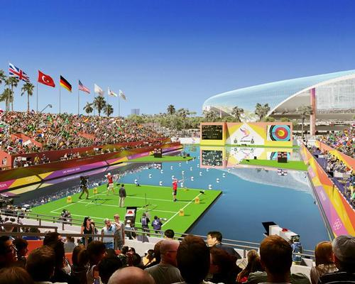The archery competition is proposed for the Hollywood Park venue being built for the city's new NFL franchise