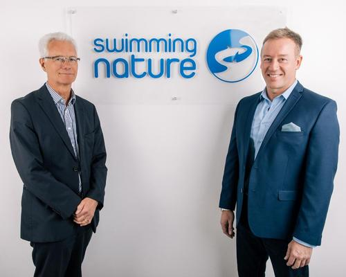 Steve Philpott (left) and Michael Clark are overseeing the rapid expansion of Swimming Nature