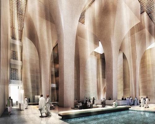 The design concept is inspired by traditional Arab architecture / Foster + Partners