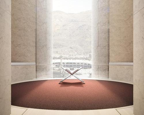 Each room will have a space for prayer and contemplation overlooking the mosque / Foster + Partners