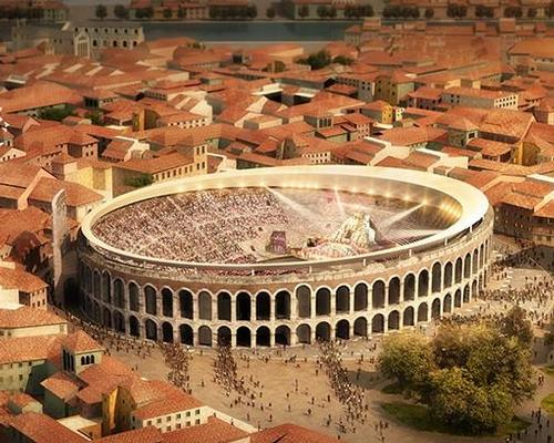 GMP envision a perimeter ring resting on the top edge of the arena / Comune di Verona