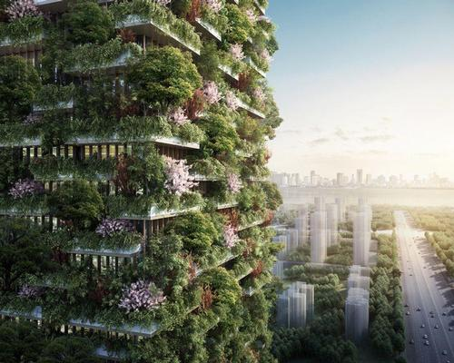 The Nanjing Green Towers complex will house a museum, a green architecture school, a private club and a Hyatt hotel / Stefano Boeri Architetti