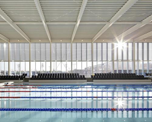 The pool at FaulknerBrowns' Hebburn Central facility, which will be discussed at the conference / Hufton + Crow
