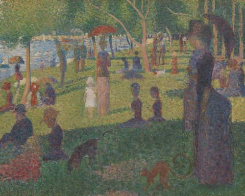 Georges Seurat's final study for his painting of Parisians at leisure on an island in the Seine is among the thousands of work now available / Bequest of Sam A. Lewisohn, 1951