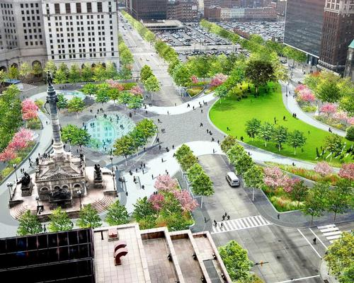The design for Cleveland Public Square – the scene of peaceful protests last summer / James Corner Field Operations