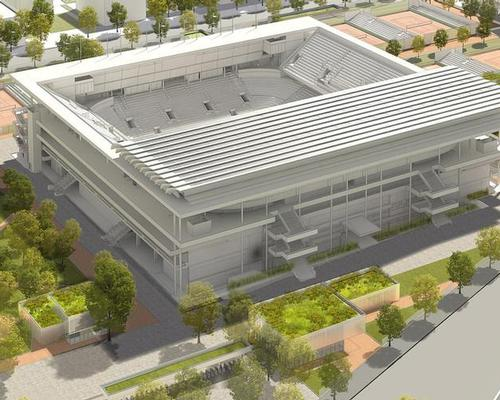 Plans for the revamped Philippe Chatrier Court – the complex's primary venue – include a retractable roof in order to ensure games can continue in bad weather and after nightfall / FFT