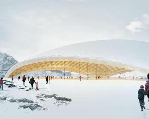 Images released by the local municipality of Sermersooq – which is funding the scheme has part of a wider cultural strategy – show an elegant domed stadium / Municipality of Sermersooq