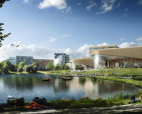 The centre will create a link between the lake and the urban area / 3XN