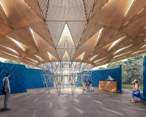 There will be four separate entry points, with an open air courtyard in the centre allowing visitors to sit and relax during sunny days / Kéré Architecture